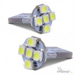 Par Lâmpadas LED T10 5W Pingo 5 LEDs 12V